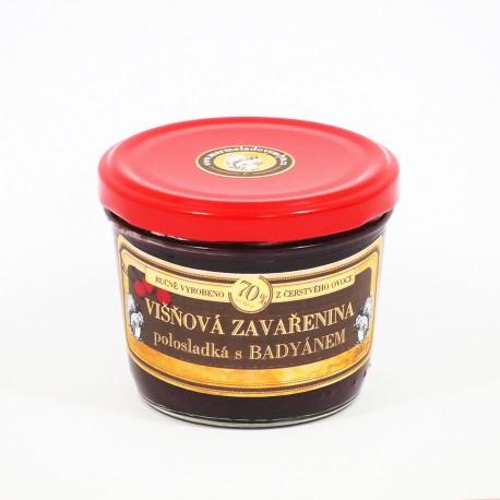 Višňová marmeláda s badyánem polosladká 200 g