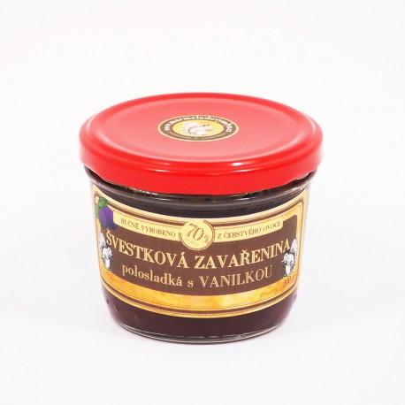 Švestková marmeláda s vanilkou polosladká 200 g