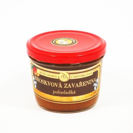 Broskvová marmeláda polosladká 200 g