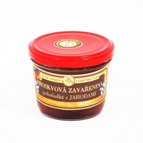 Broskvová marmeláda s jahodami polosladká 200 g