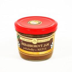 Rebarborový jam s mátou polosladký 200 g