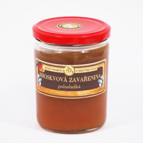 Broskvová marmeláda polosladká 400 g