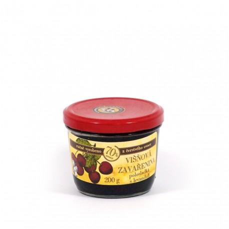 Višňová marmeláda s levandulí polosladká 200g