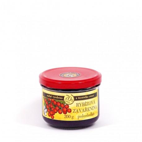 Rybízová marmeláda (červený rybíz) polosladká 200 g
