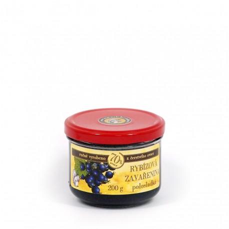 Rybízová marmeláda (černý rybíz) polosladká 200 g