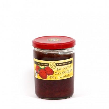 Jahodová marmeláda polosladká 400 g