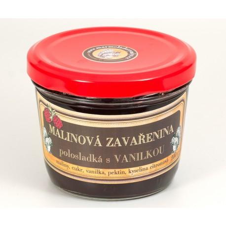 Malinová marmeláda s vanilkou polosladká 200 g