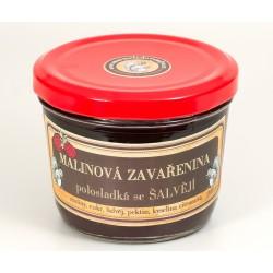 Malinová zavařenina se šalvějí polosladká 200 g