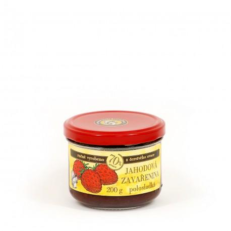 Jahodová marmeláda polosladká 200 g
