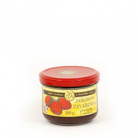 Jahodová marmeláda s vanilkou polosladká 200 g