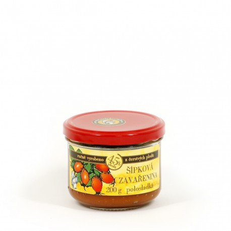 Šípková marmeláda polosladká 200 g