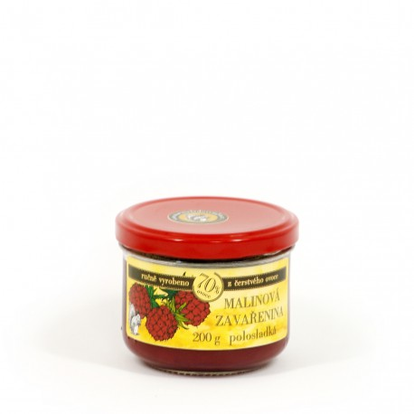 Malinová marmeláda polosladká 200 g