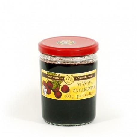 Višňová marmeláda polosladká 400 g