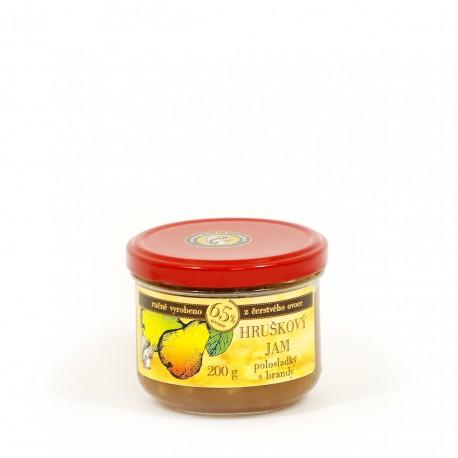Hruškový džem s brandy polosladký 200 g