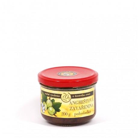 Angreštová marmeláda polosladká 200 g