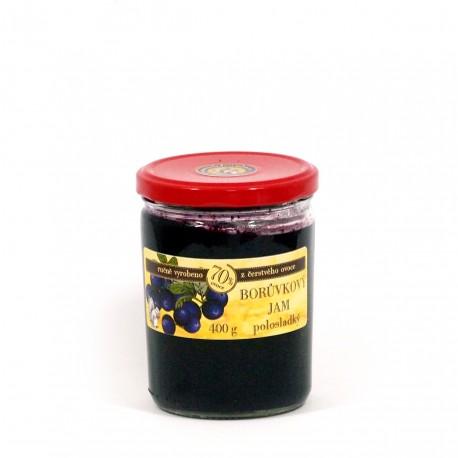 Borůvkový jam polosladký 400g